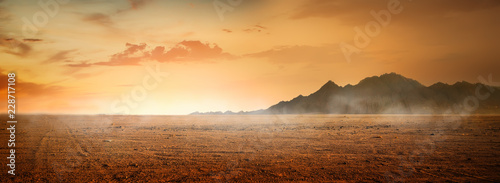 Canvas Print Desert and mountains