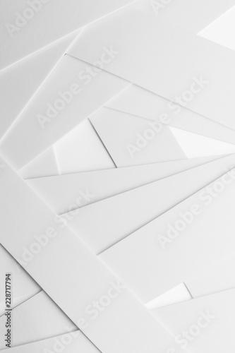 Fototapeta kompozycja geometryczna z białymi elementami