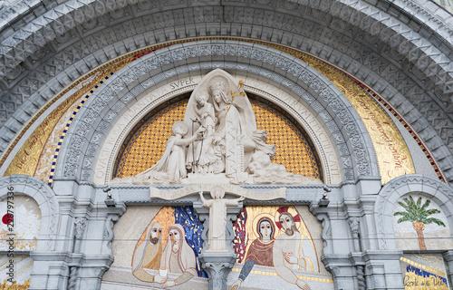 Canvas Print Sanctuary of Lourdes in France