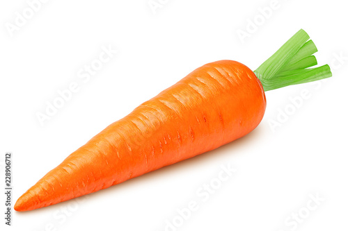 Photo carrot isolated on white background, clipping path, full depth of field