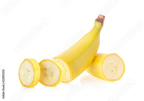 Fotografia banana isolated on white background