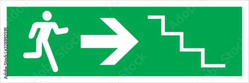 Fotografija fire & safety emergency exit signs