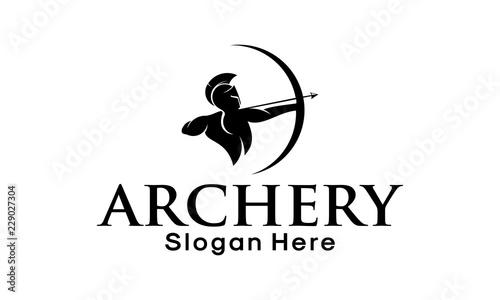 Obraz na plátně Archer Logo Template Design Vector, Emblem, Design Concept, Creative Symbol, Ico