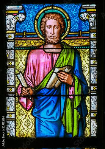 Stained Glass - St Luke the Evangelist Fototapeta