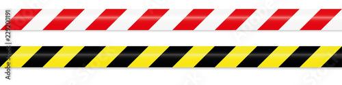 Obraz na plátně warning tape red white and yellow black