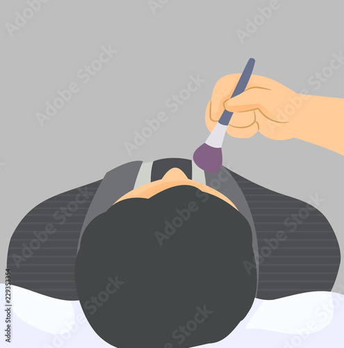 Fotografia Mortuary Makeup Illustration