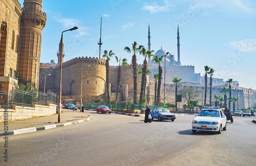 Canvas Print Explore main landmarks of Cairo, Egypt