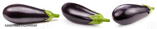 Eggplant isolated on white