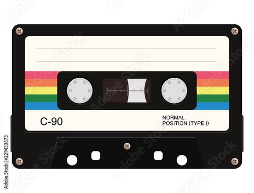 Fotografie, Obraz Cassette tape. Vector illustration