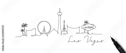 Canvas Print Pen line silhouette las vegas