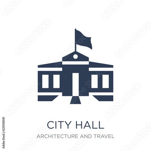 Leinwand Poster City hall icon