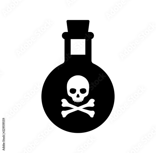 Valokuvatapetti poison  bottle / toxic icon