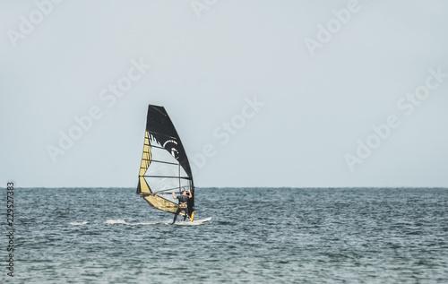 Surfer auf der Ostsee