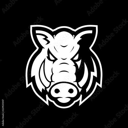 Valokuvatapetti Boar head mascot