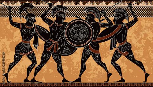 Photo Ancient greek scene banner