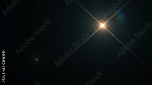 Fotografie, Tablou Lens flare light