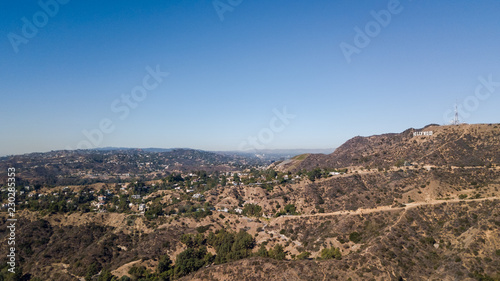 Obraz na płótnie Scenic view of the Hollywood hills in Los Angeles