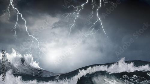 Fotografie, Obraz Stormy sea weather