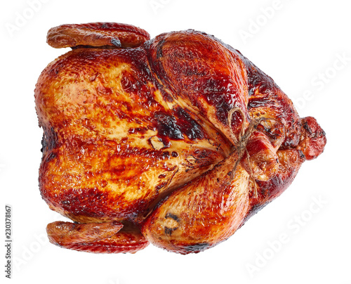 Obraz na płótnie roasted chicken isolated on white background