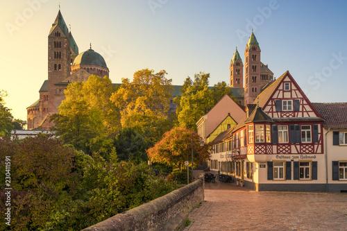 Tableau sur Toile Dom zu Speyer im Herbst