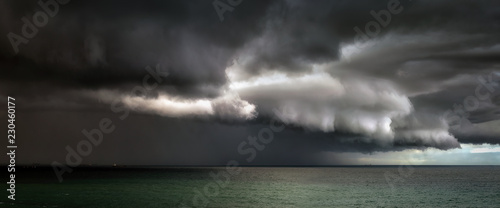 Fotografie, Obraz panorama of stormy clouds on the sea
