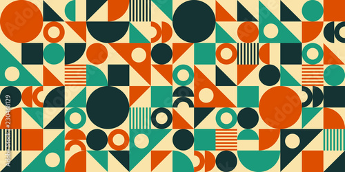 Wallpaper Mural Mid Century Abstract Background
