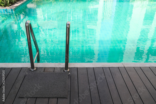 Stampa su Tela swimming pool with stair