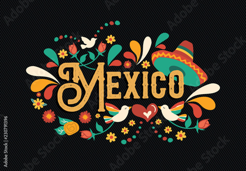 Mexico quote greeting card for mexican holiday