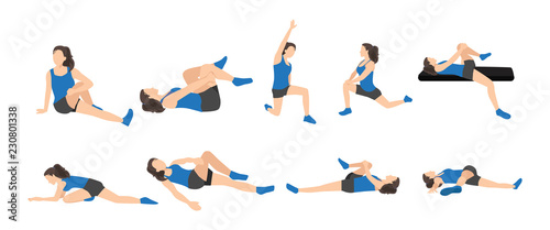 Stampa su Tela Workout girl set