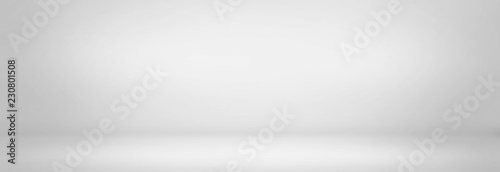 Fotografía gray and black cement wall studio background, blank room and empty banner