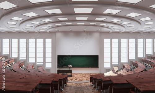 Photo Inside an Auditorium 3d rendering