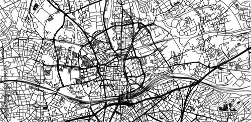 Fototapeta Urban vector city map of Essen, Germany