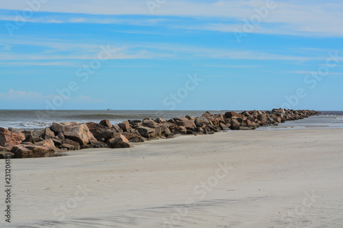 Fotografia North Jetty at Huguenot Memorial Park in Duval County, Atlantic Ocean, Florida