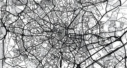 Canvas Print Urban vector city map of Montpellier, France