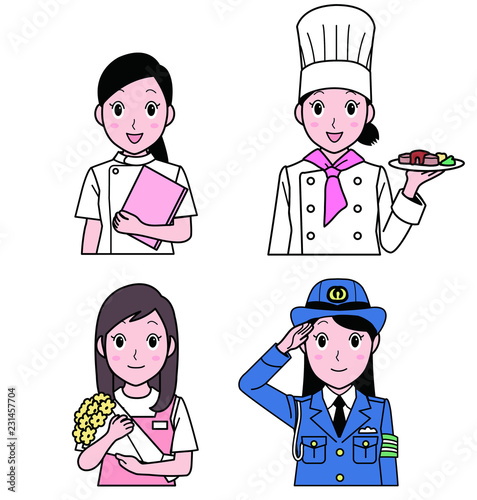 Fotomural 女性 職業A