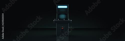 vintage arcade game machine. 3d rendering Fototapete