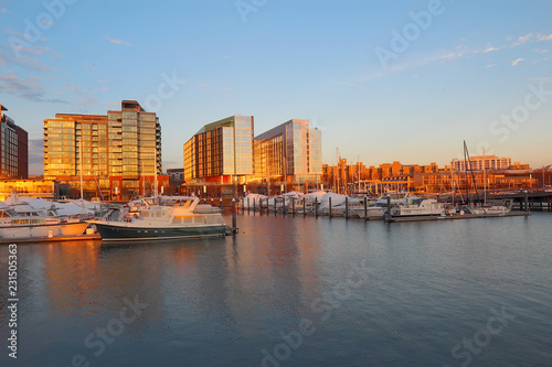 Boats and buildings at the DC Waterfront
