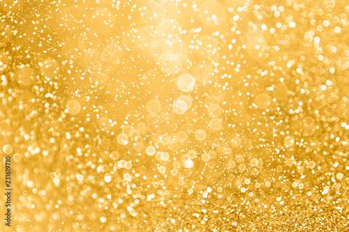 Wallpaper Mural Gold glitter sparkle glam background texture for golden Christmas sparks, weddin