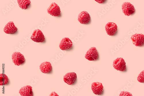 Stampa su Tela Colorful pattern of raspberries