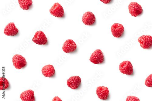 Fotografia Pattern of fresh raspberries