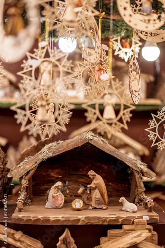 Nativity scene sold as a Christmas decoration Fototapeta