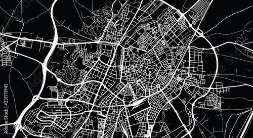 Photo Urban vector city map of Valladolid, Spain