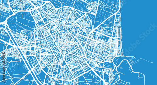 Obraz na płótnie Urban vector city map of Valencia, Spain
