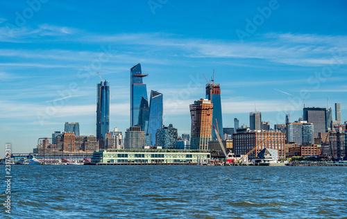 Fototapeta Cityscape of new skyscrapres in  Hudson Yards, New York.
