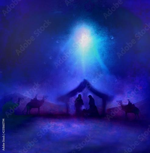 Foto Birth of Jesus in Bethlehem