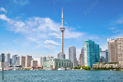 Downtown Toronto With CN Tower Cityscape on Lake Ontario