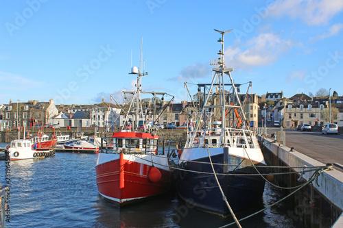 Fishing boats in Stranraer Harbour, Scotland
