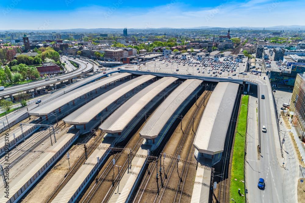 Kraków main station aerial view <span>plik: #231971376 | autor: Artur</span>
