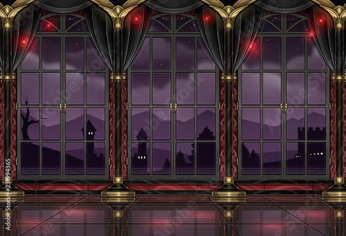 Billede på lærred ballroom design background wallpaper