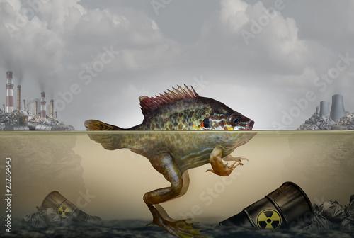 Canvas Print Environmental Pollution Genetic Mutation